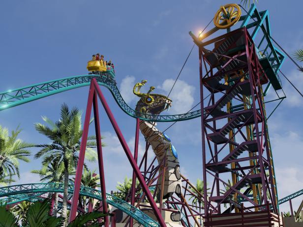Cobra's Curse Roller Coaster