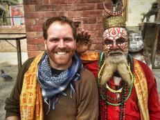 Josh Meets a Hindu Holy Man in Kathmandu