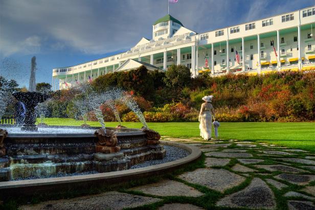 The Grand Hotel in Mackinac Island, Michigan