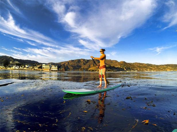 Paddleboarding in Malibu