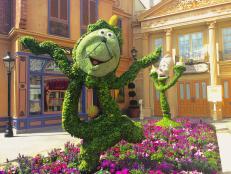 See your favorite Disney characters as topiaries.