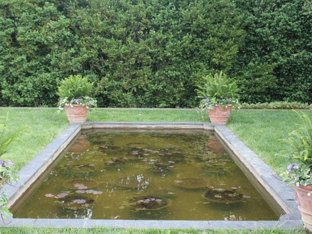 Formal Pond at Elizabeth Locke's Virginia Home