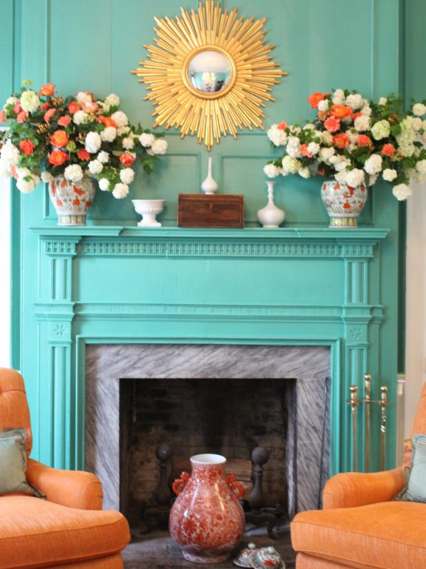 Colorful Fireplace in Federal Hill Estate