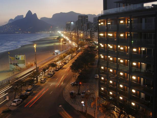 Outside Look at The Frasano Hotel in Rio de Janeiro, Brazil