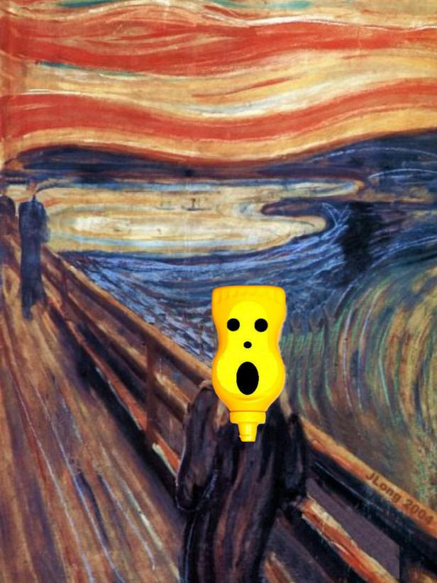 A Parody of Edvard Munch's The Scream at the National Mustard Museum
