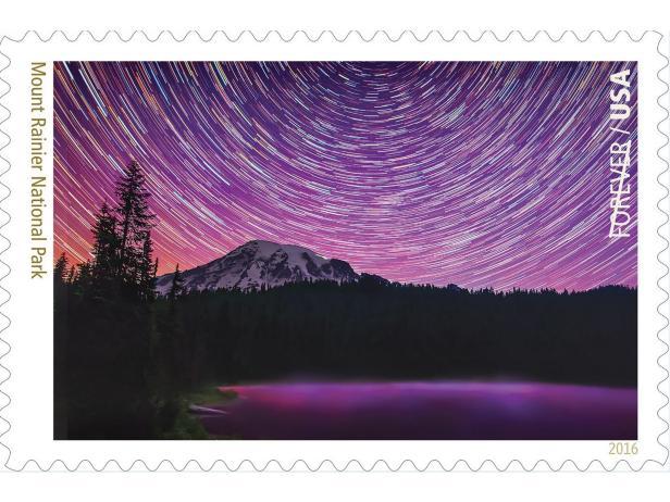 Mount RainierNational Park Stamp