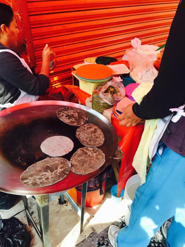 Street Food Vendor in Mexico City