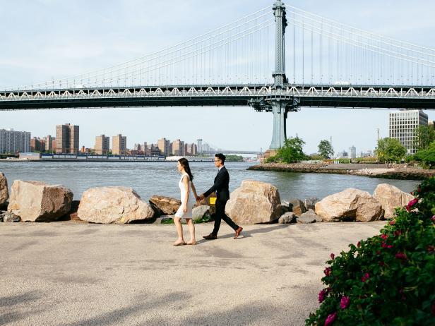 Wedding Photography with the Manhattan Bridge