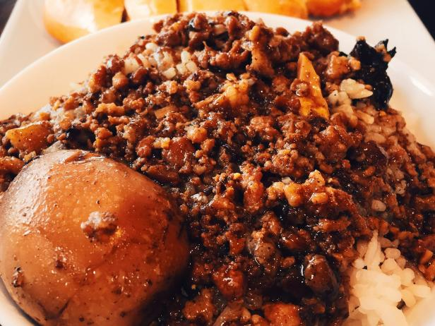 Spicy Pork Bun With Rice