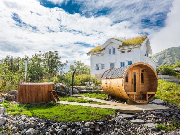 Hattivika Lodge, Northern Lights, Lofoten Islands, Norway