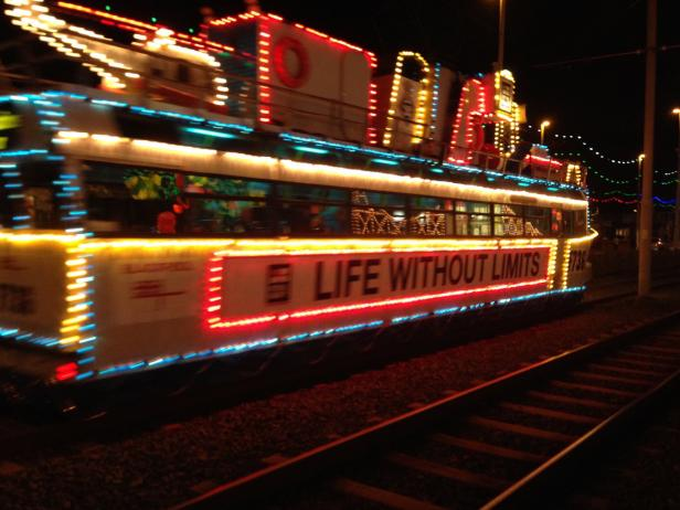 The Blackpool Illuminations Trolley Ride
