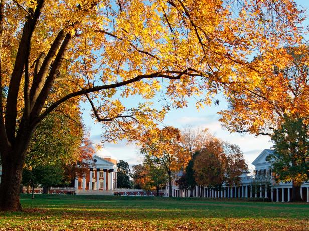The Lawn at the University of Virginia campus