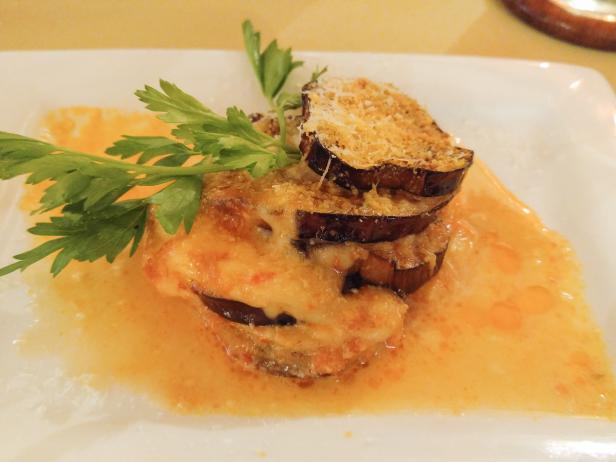 Creamy Eggplant Dish at Rome Cooking Class