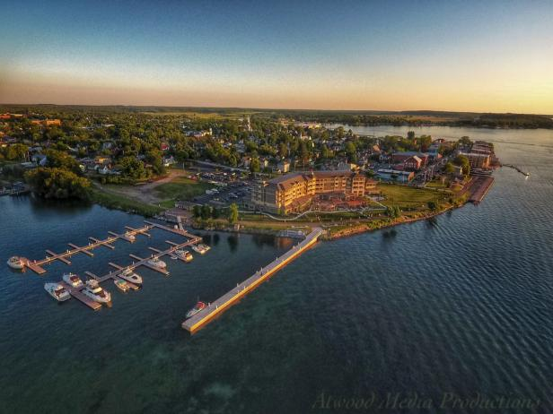 Aerial View of 1000 Islands Harbor Hotel