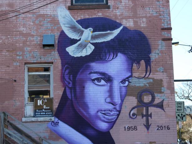 Prince Mural in Minneapolis
