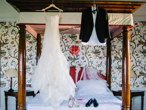 Wedding Dress and Tux