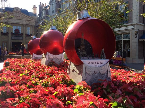 France Pavilion at Epcot During the Holidays<br />