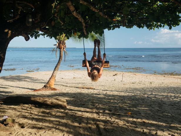 Girl on swing in Costa Rica