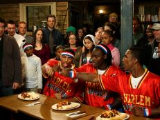 We sat down with Hammer, Bull and Slick from the Harlem Globetrotters to talk about their Man v. Food Nation appearance and about being part of such a famous basketball team.