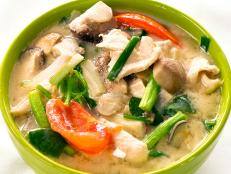 Watch Andrew Zimmern prepare Tom Kha Gai. Then prepare the Thai soup in your own kitchen.