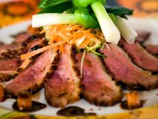 Watch Andrew Zimmern cook Japanese Pan Roasted Duck Breast. Then prepare the dish in your own kitchen.