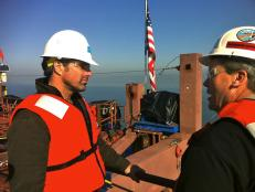 Don Wildman at the Bay Bridge Contruction Project