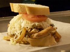 Check out the sandwich report card for Primanti Bros. Capp and Cheese stuffed sandwich.