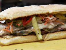 Learn about Mitchell's Delicatessen and their Asian Flank steak sandwich.