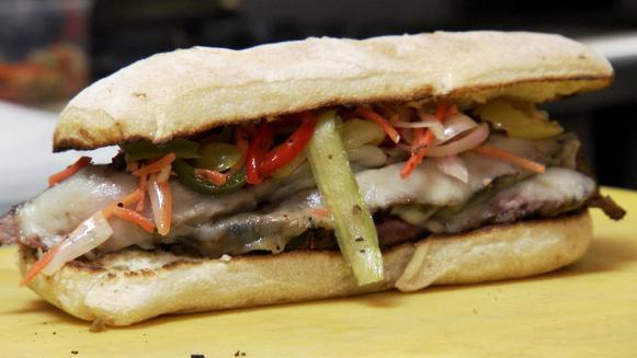 Asian Flank Steak Sandwich - Mitchell's Deli