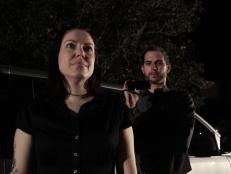 Amy Allan and cameraman Matt on The Dead Files