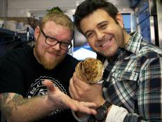Adam Richman, Brian Wood and the roast beef big ass sandwich