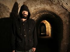 Aaron Goodwin in the Hellfire Caves