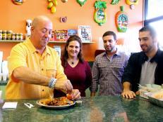 Andrew Zimmern at the Nicaraguan restaurant Fritanga Montelimar in Miami
