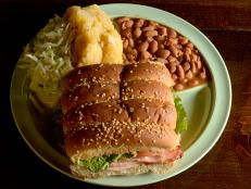 Get the recipe for the BBQ beef brisket sandwich from The Salt Lick in Driftwood, Texas.