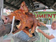 Pig on a roast