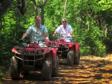 Tony and Jerry ride ATV's