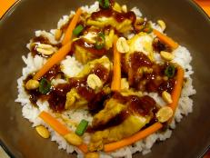 Kung pao chicken rice bowl