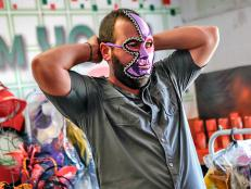 Trying on Colorful Masks