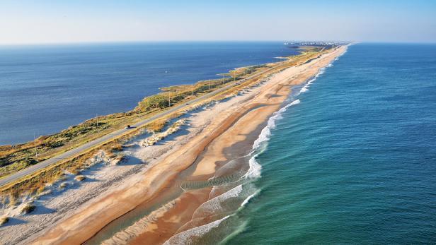 national seashore, cape hatteras, north carolina, beach, ariel view, ocean