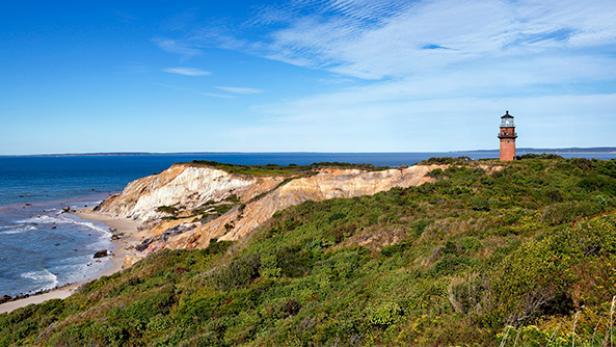 Gay Head Lighthouse on Moshup Beach