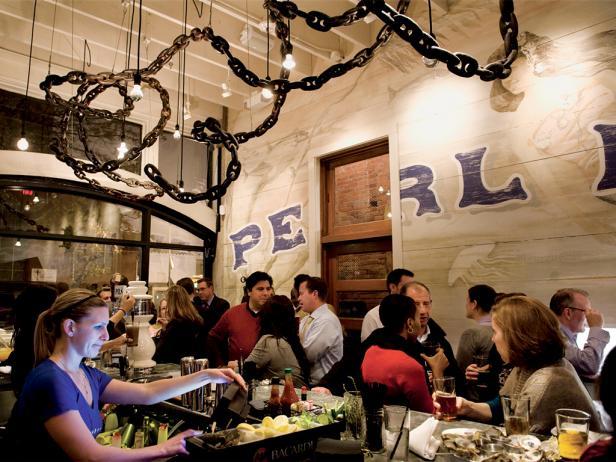 pearl dive oyster bar, restaurant, interior, dining, washington, dc