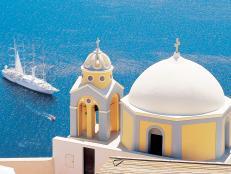 windstar, wind star, cruises, cruise ship, santorini, greece, mediterranean