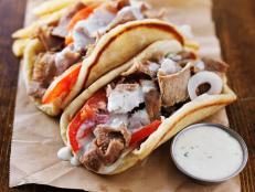 shawarma, meat, gyro