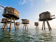 abandoned, wwII, maunsell sea forts, kent, england