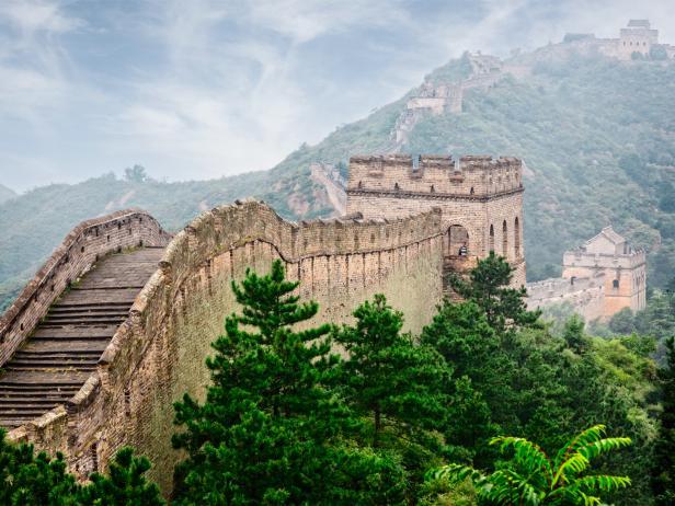 great wall of china, stairs, beijing, china