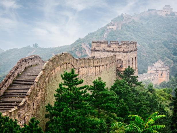 great wall of china, stairs, beijing, china