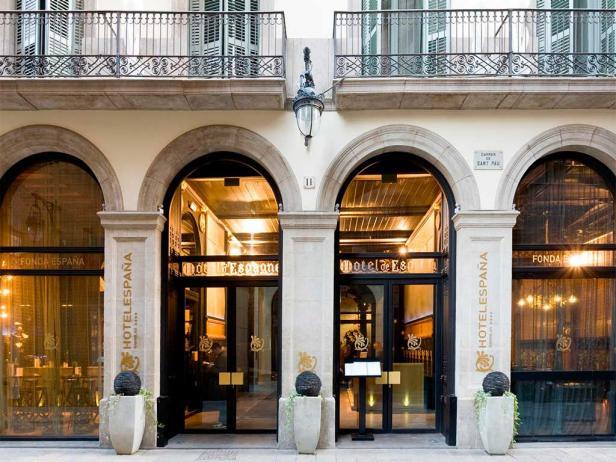 hotel espana, exterior, barcelona, spain