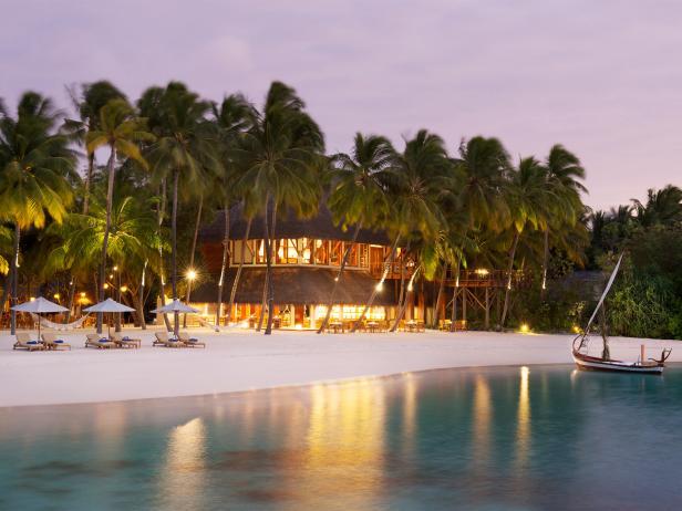 Conrad Maldives Rangali Island, hotel, exterior, beach, Hilton