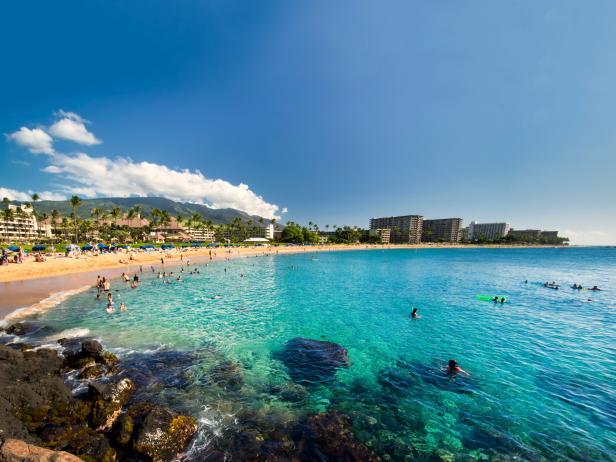 Kaanapali Beach, view, Maui, Hawaii