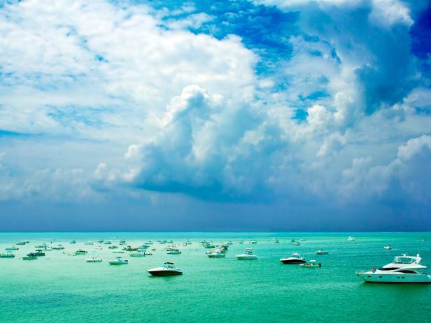 Crab Island, boats, Destin, Florida